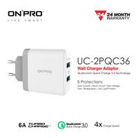 ONPRO UC-2PQC36 Adaptor Charger Dual USB Quick Charge 3.0 - Putih