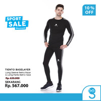 Tiento Baselayer Manset Celana Legging Leging Sport Retro Race 1 Stel