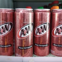 A&W minuman kaleng 330ml / minuman kaleng AW via GRAB GOJEK