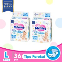 Merries Baby Diapers L 18S Twinpack