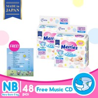 Merries Baby Diapers New Born 24S Twinpack FREE Music CD