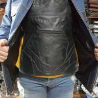 Sale Rompi Motor Kulit Penahan Angin Pakaian Dalam Pelapis Jaket