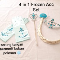 GS3017 FROZEN SET 4 IN 1 [BAJUKIDDIE] TONGKAT FROZEN TIARA BANDO