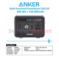Anker PowerHouse 220V Multi-Fungsional 120000mAh Power Bank Generator
