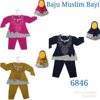 Baju Setelan Muslim Gamis Celana Bayi 6846