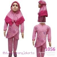 Baju Setelan Muslim Gamis Celana Anak 1-3Th 1056
