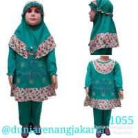 Baju Setelan Muslim Gamis Celana Anak 1-3Th 1055