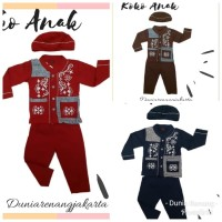 Baju Koko Anak 1-3 Th Katun Kaos Combed 6807