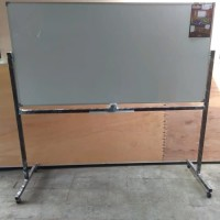 PPAPAN TULIS WHITEBOARD 120X180 SINGLE MAGNETIK + RODA KEIKO