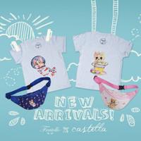 Tshirt Fratello Corgie + Bumbag / baju kaos anak perempuan