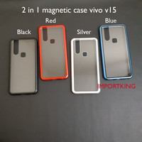 Vivo v15 Premium 2 in 1 magnetic phone case -Transparant