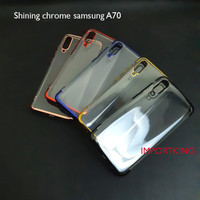 Samsung A70 SHINING CHROME TPU CASE CLEAR Silicone Case