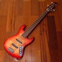 Gitar Bass Bacchus WJB5 BP Active Red Burst