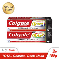 Colgate Total Charcoal Paste Toothpaste/Pasta Gigi 150gr - Twin Pack