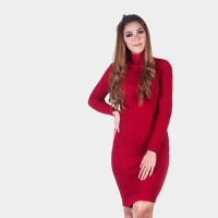 Deswita Casual Dress Gaun Rajut Turtleneck Lengan FL-1156-NP
