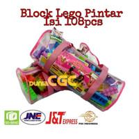 Mainan Edukasi Anak Block Pintar Tas Tali Lego Puzzle Balok 108pcs