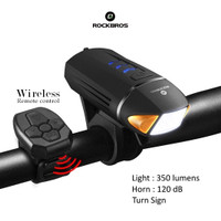 ROCKBROS YQ-QD450 Bike LED 350lm, Horn 120db - Lampu Klason Sepeda
