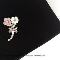 Plum Blossome Hijab - Hijab Crystal Swarovski by Her Jewellery
