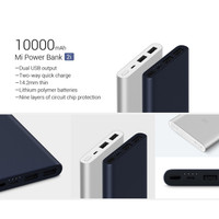 Powerbank Xiaomi Mi 2 10000mAh FAST CHARGING ORIGINAL DUA USB PORT