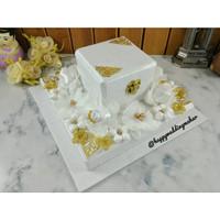 Kotak Hantaran Mahar Pernikahan putih biru