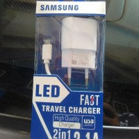 Best Super Murah... FAST Travel Charger SAMSUNG LED 2.1A - Kepala