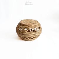 Kapua Weave Round Box