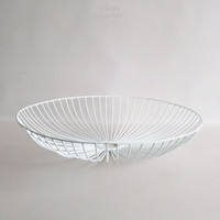 Dewey Wire Bowl in White Large