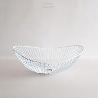 Dewey Wire Bowl in White Medium