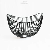 Dewey Wire Bowl in Black Small
