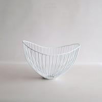 Dewey Wire Bowl in White Small