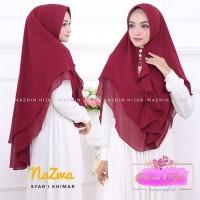 Jilbab Hijab Khimar Nazma Syari Instan Rempel 2 Layer Terbaru