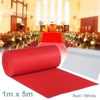 SALE!!! Karpet Lantai Ukuran Besar 1x5m Warna Merah Putih untuk