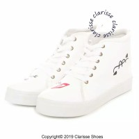 Clarisse Sepatu Wanita MIAW CASUAL REALPICT Sneakers Salem Putih LUCU