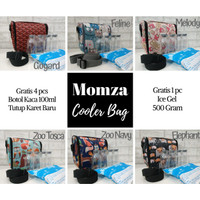 MOMZA Cooler Bag Coolerbag Momza Sling Botol KACA ASI Ice Gel Tas ASIP