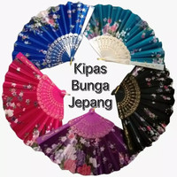 Kipas Jepang Motif Bunga Pelengkap Aksesoris Baju YUKATA KIMONO