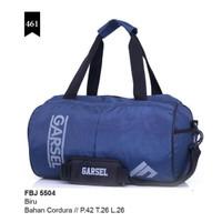 Tas travel Mudik Lebaran warna Biru Premium Garsel Original Murah awet