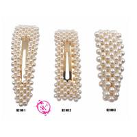 B2 Jepit Rambut Model Barrette - Hair pin Mutiara