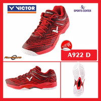 NEW !! Sepatu Badminton Victor A922 / A 922 D Red FREE COVER