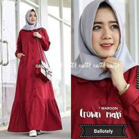 Baju Muslim Crown Maxi Dress Gamis Murah Baju Gamis Wanita Terbaru