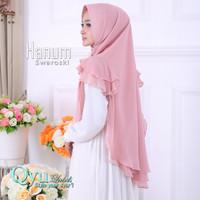 Jilbab Instan Hijab Syari Kerudung Khimar Ceruti Sifon Hanum Swaroski