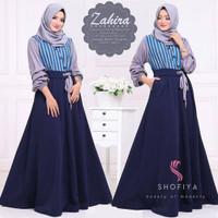Baju Zahira Dress Motif Baju Muslim Gamis Maxi Syari Wanita Terbaru
