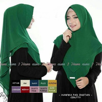 Jilbab Instan Hawwa Pad Khimar Pinguin | Hijab Instan Syari Murah