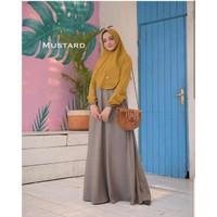 Baju Gamis Set Syari Wanita Terbaru Mawar Syari Baju Setelan Muslim