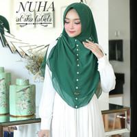 Jilbab Syari Khimar Syari Nuha Mutiara Melati Ceruti Premium Oval PHG