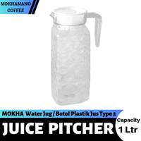 MOKHA Juice Pitcher Water Jug Botol Plastik Jus 1 Ltr Type 2