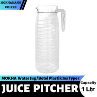 MOKHA Juice Pitcher Water Jug Botol Plastik Jus 1 Ltr Type 1