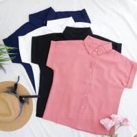 Casual Shirt Crepe Wanita - B 7571 - Putih