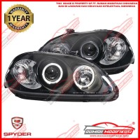 HEADLAMP - HONDA CIVIC FERIO 1996-1998 - SONAR - ANGEL EYES - BLACK