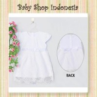 Dress Anak Putih Import Murah Dress Baptis Anak Import Brocade Bunga