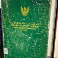 Harga daftar nama dan alamat pejabat pejabat negara ri 1985 tp 13 | antitipu.com